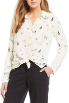 Roxy Printed Romantic Path Button Front Shirt