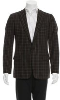 Dolce & Gabbana One-Button Plaid Blazer
