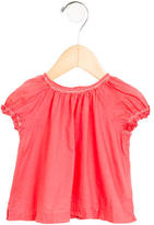 Bonpoint Girls' Ruched Cap Sleeve Top