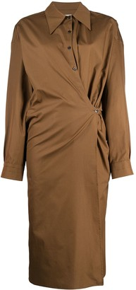 Lemaire Ruched Shirt Dress