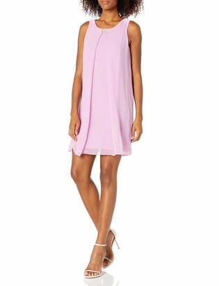 MSK Women's Sleeveless A LINE Dress