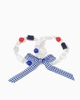 Charming charlie Gingham Bow Bracelet Set