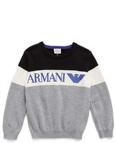Armani Junior Boy's Crewneck Cotton & Wool Sweater