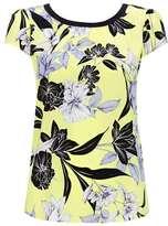 Wallis Petite Yellow Floral Top