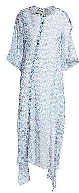 Acne Studios Women's Dagny Chiffon Silk Midi Dress