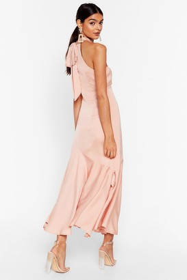 Nasty Gal Womens Glow With It Satin Maxi Dress - Orange - 4, Orange