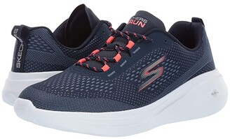 Skechers Go Run Fast (Navy/Coral) Women's Shoes