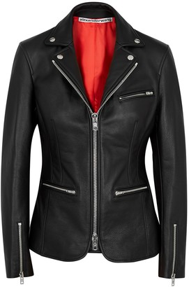 Alexander Wang Black Leather Blazer