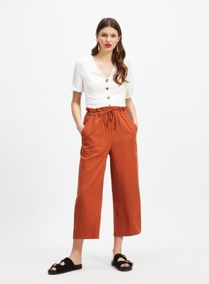 Miss Selfridge Rust Tie Rope Trousers