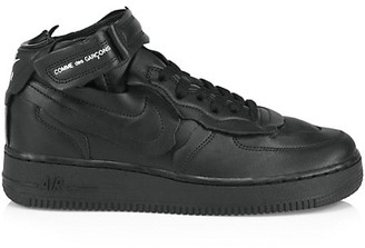 Comme des Garcons High-Top Leather Sneakers