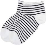 Striped Bootie Sock By Little River Sock Mill