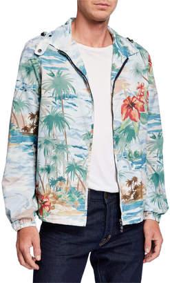 Valentino Men's Tropical Print Rain-Resistant Jacket