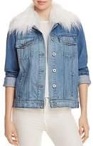 Paige Heidi Denim Faux Fur Collar Jacket - 100% Exclusive