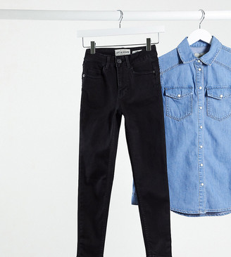 New Look Petite clean lift and shape jeans in black