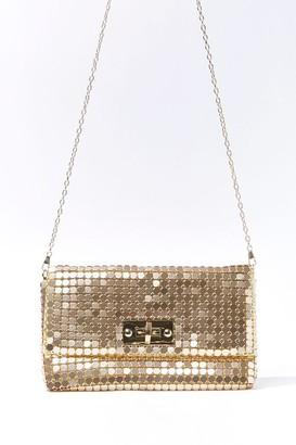 Forever 21 Metallic Plated Crossbody Bag