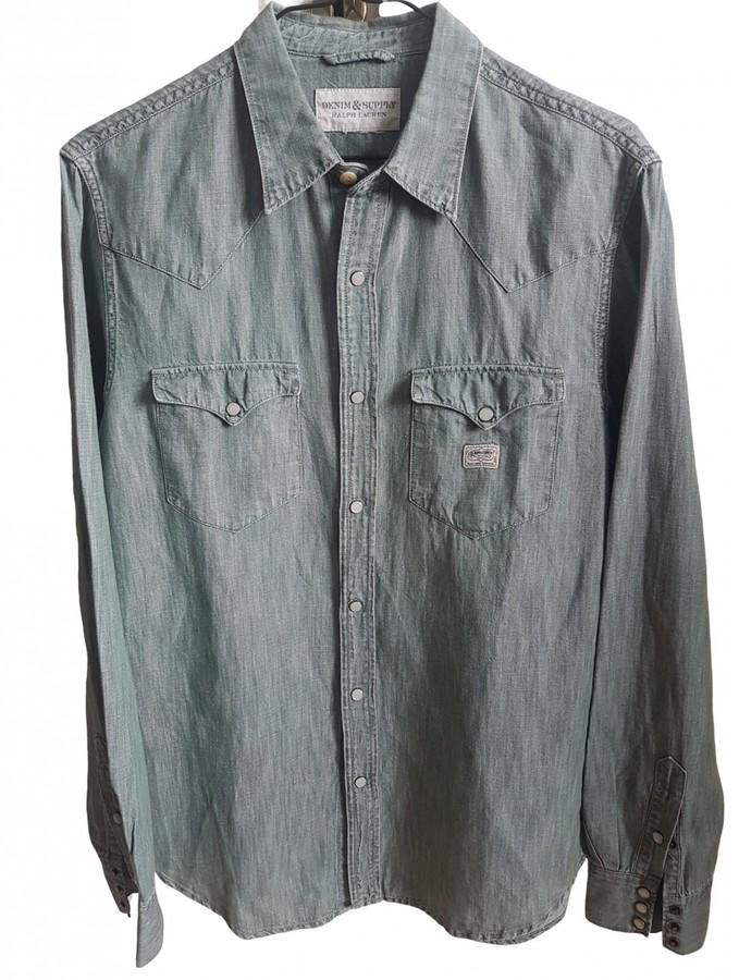 Denim & Supply Ralph Lauren Green Denim - Jeans Shirts