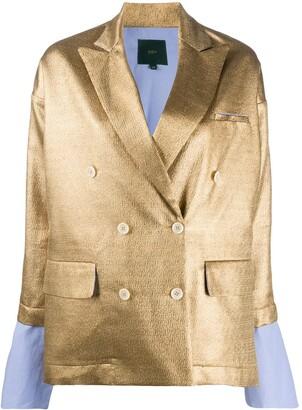 Jejia Metallic Double-Breasted Jacket