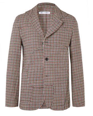 Comme des Garcons Panelled Houndstooth Wool-Tweed Blazer