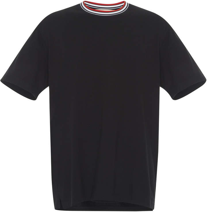 Marni Knit-Collar Cotton T-Shirt