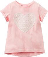 Carter's Short-Sleeve Pink Knit Top - Girls 4-8