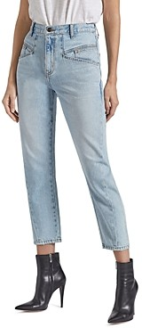 Current/Elliott The Helix Cropped Straight-Leg Jeans in Wentworth