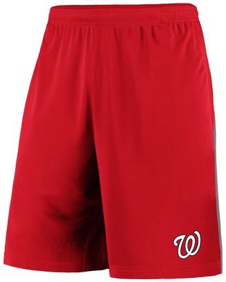 Men's Fanatics Branded Red/Gray Washington Nationals Crossbar Shorts