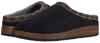 L.L. Bean L.L.Bean Wool Slipper Clog (Black) Women's Slippers