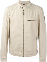 Belstaff zipped biker jacket - men - Cotton - 46