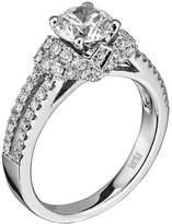 "Scott Kay Radiance"" Semi Mount Diamond Engagement Ring in 14K White Gold (5/8 cttw)"