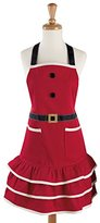 DII 100% Cotton, Machine Washable, Holiday Theme Ruffle Apron, Kitchen Basic, Cooking, Baking, Crafting and More, Christmas Gift - Mrs. Claus