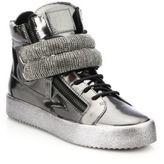 Giuseppe Zanotti Stone Bar High-Top Sneakers