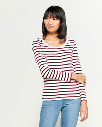 Tommy Hilfiger Striped Long Sleeve Tee