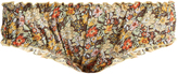 LOUP CHARMANT Bloomer floral-print cotton briefs