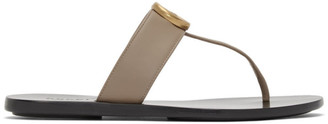 Gucci Taupe Marmont Flat Sandals