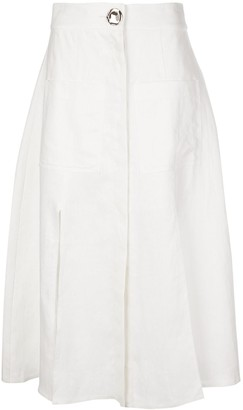 Nicholas Button-Up Midi Skirt