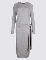 M&S Collection Pure Wool Tie Side Jumper Dress