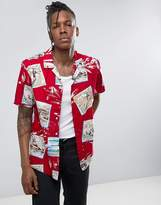 Dickies Shirt With All Over Post Card Print In Regular Fit