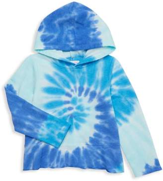 Design History Little Girl's Tie-Dye Hoodie