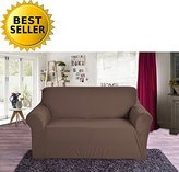 Elegant Comfort Collection Luxury Soft Furniture Jersey STRETCH SLIPCOVER, Sofa Chocolate