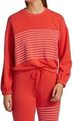 Sundry Stripe Blouson Sweatshirt
