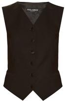 Dolce & Gabbana Satin-backed wool and silk-blend waistcoat