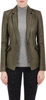 ATM Anthony Thomas Melillo Women's Leather Fitted Blazer-GREY