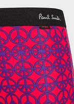 Paul Smith Men's Red 'Peace' Print Low-Rise Boxer Briefs
