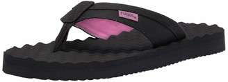 Flojos Women's Blair 2.0 Flip-Flop Black/Pink 5 M US