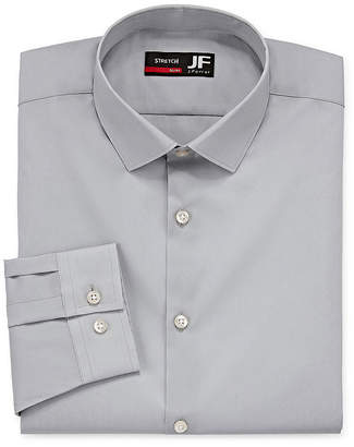 Jf J.Ferrar Easy-Care Coolmax Mens Point Collar Long Sleeve Stretch Cooling Dress Shirt