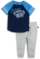 Splendid Infant Boys' Bulldog Color-Block Tee & Jogger Set - Sizes 3/6-18/24 Months