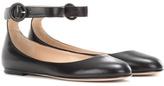 Gianvito Rossi Virna Flat Leather Ballerinas
