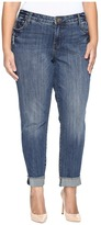 KUT from the Kloth Plus Size Amy Ankle Straight Leg Roll Up Frey Jeans in Valued Women's Jeans
