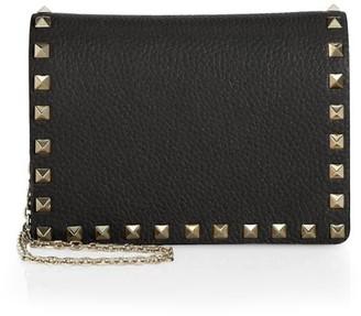 Valentino Small Rockstud Leather Shoulder Bag
