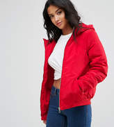 Noisy May Petite Padded Jacket With Hood